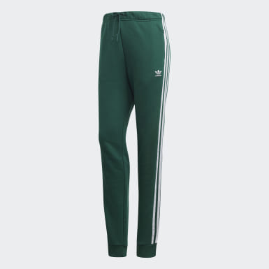 Women Originals Green Cuffed Track Pants