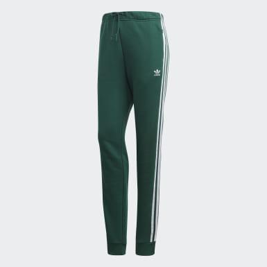 Pantalon de survêtement Cuffed Vert Femmes Originals