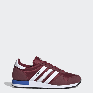 Men Originals Burgundy USA 84 Shoes