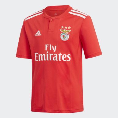 Boys Football Red Benfica Home Mini Kit