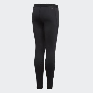 Collant Alphaskin Sport Long Noir Garçons Yoga