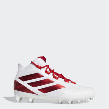 Men's Football White Freak Carbon Mid Cleats