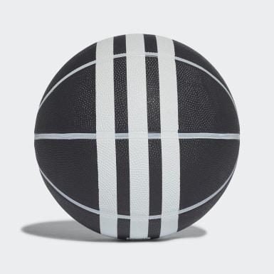 Balón de Básquet Rubber X 3 Franjas Negro Basketball