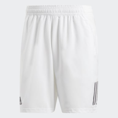 Men Padel Tennis White Club 3-Stripes 9-Inch Shorts