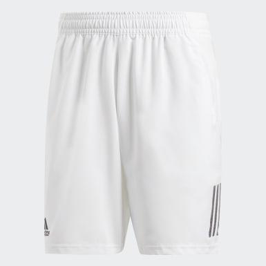Shorts Club 3 Tiras 9 Pulgadas Blanco Hombre Tenis
