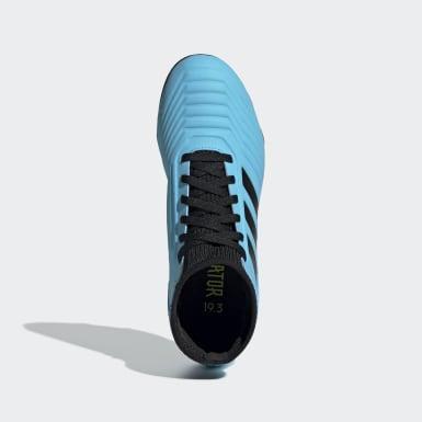 Botines Predator 19.3 Terreno Firme Azul Niño Fútbol
