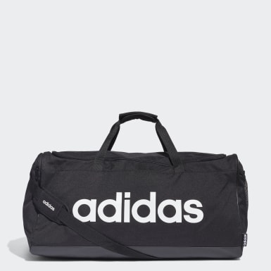 Lifestyle Black Linear Logo Duffel Large