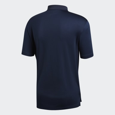 Heren Golf Blauw Performance Poloshirt
