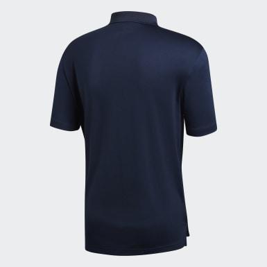 Mænd Golf Blå Performance polotrøje