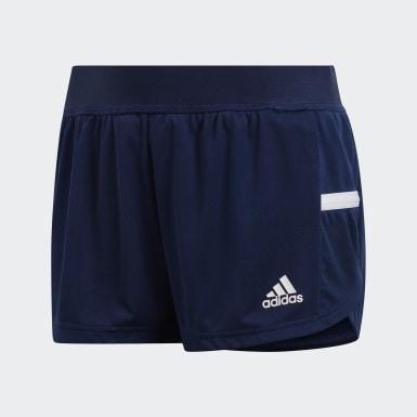 Pantalón corto Team 19 Running Split Azul Mujer Fútbol
