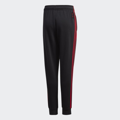 Youth Soccer Black Manchester United Sweat Pants