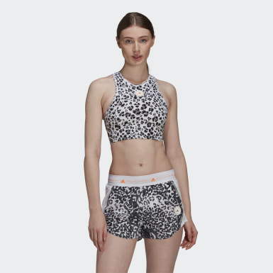 Ženy adidas by Stella McCartney biela Top adidas by Stella McCartney TruePurpose Crop