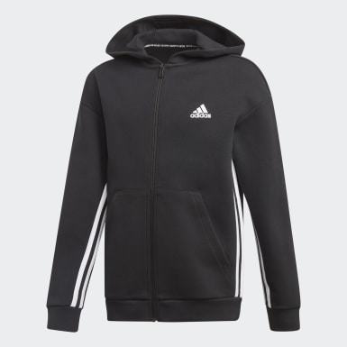 Boys Träning Svart Must Haves 3-Stripes Track Jacket
