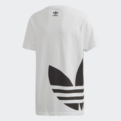 Kids Originals White Big Trefoil Tee