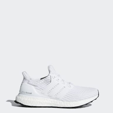 Women Walking White Ultraboost Shoes