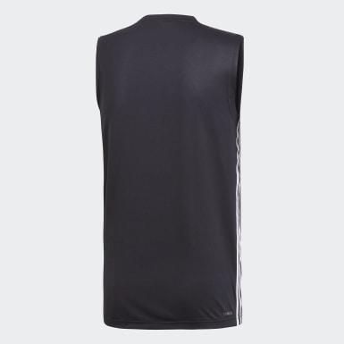 Männer Studio Design 2 Move 3-Streifen T-Shirt Schwarz