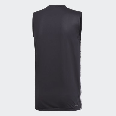 Men Studio Black Design 2 Move 3-Stripes Tank Top