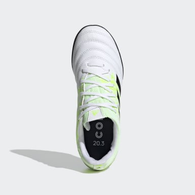Kids Football White Copa 20.3 Turf Boots