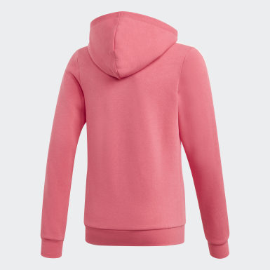 Girls Athletics Pink 3-Stripes hoodie