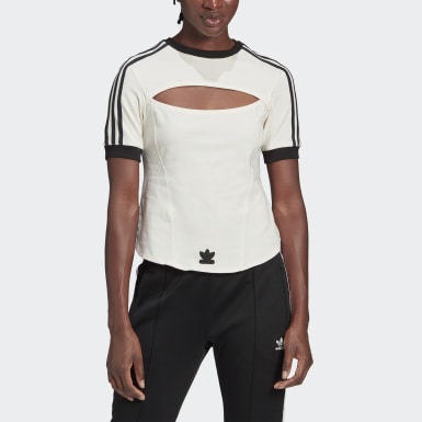 Women Originals White Paolina Russo 3-Stripes T-Shirt