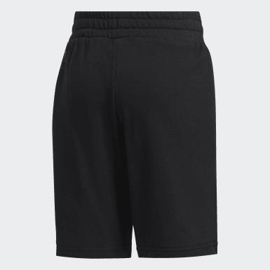 Boys Athletics Black Knit Shorts