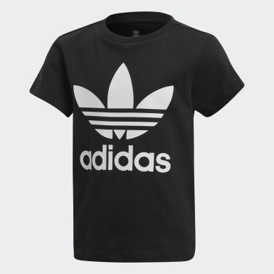 Camiseta Trefoil Preto Kids Originals