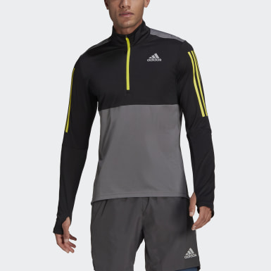 Sudadera Own The Run Running 1/2 Zip Gris Hombre Running
