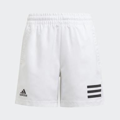 Jongens Tennis Wit Club Tennis 3-Stripes Short