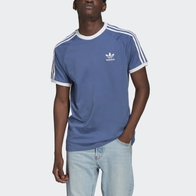 Men Originals Blue Adicolor Classics 3-Stripes T-Shirt