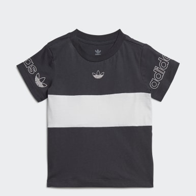 Børn Originals Grå Panel T-shirt