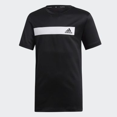 Playera Train Cool Negro Niño Training