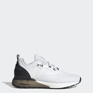 Men Originals White ZX 2K Boost Shoes