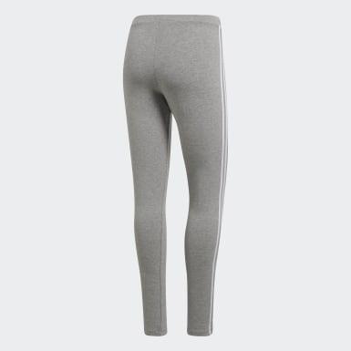 Calzas 3-Stripes - Tiro Bajo Gris Mujer Originals
