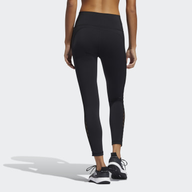 Dam Träning Svart Believe This 2.0 Lace-Up 7/8 Tights