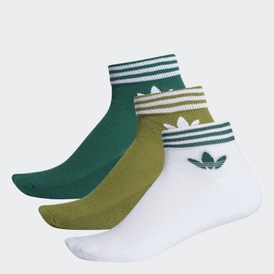 Originals Green Trefoil Ankle Socks 3 Pairs
