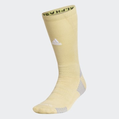 Training Beige Alphaskin Max Cushioned Crew Socks