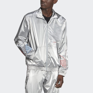 Men's Originals Silver Adicolor Tricolor Track Jacket