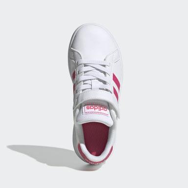 Kinder Tennis Grand Court Schuh Weiß