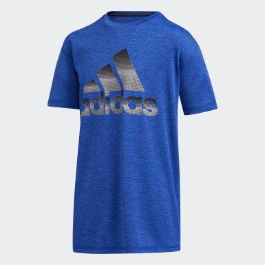 T-shirt Pixel bleu Adolescents Entraînement
