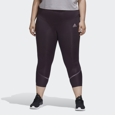 Women's Training Purple Glam-On Tights (Plus Size)