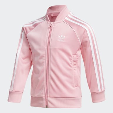 Meisjes Originals roze SST Trainingspak