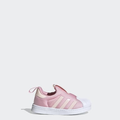 Girls Originals Pink Superstar 360 sko