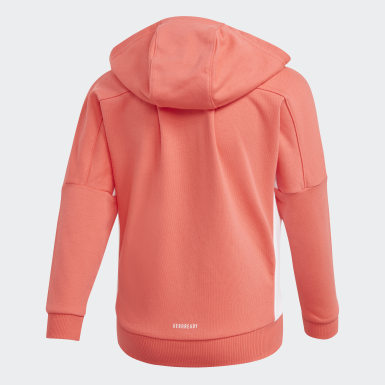 Girls Training Pink French Terry Knit Hoodie