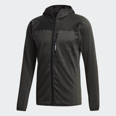 Mænd TERREX Grøn TraceRocker Hooded Fleece jakke