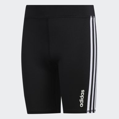 Youth Training Black Bike Shorts