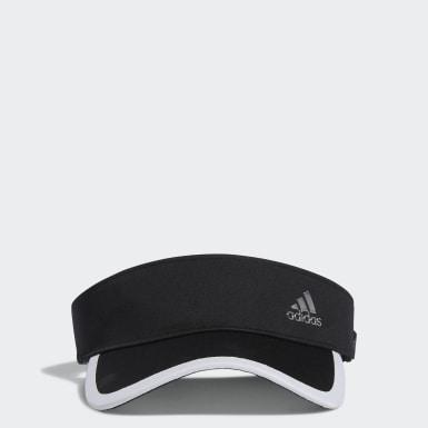 Women Golf Black Silver Logo Visor