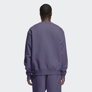 Originals Purple Pharrell Williams Basics Crew Sweatshirt (Gender Neutral)