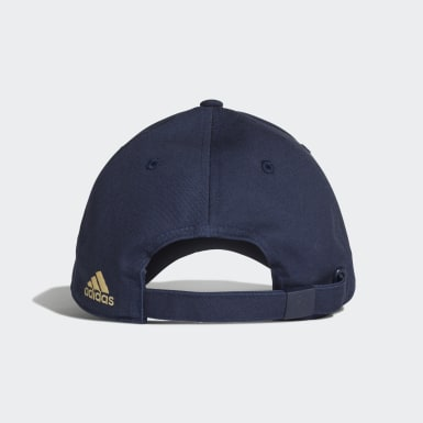 Real Madrid 3-Stripes Cap Niebieski