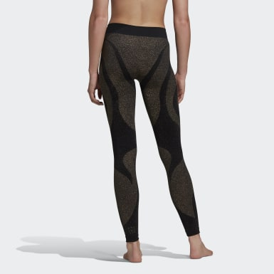 Women Studio Gold Studio Motion Leggings