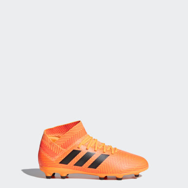 Kids Football Orange Nemeziz 18.3 Firm Ground Boots
